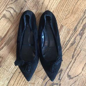 Shoes - J. Crew Suede Lottie Tassel Flats